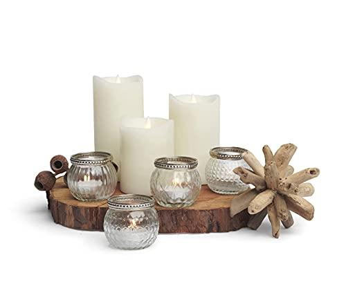 Kurrajong Farmhouse Set of 4 Small Glass Candle Holders 2' high - Wedding Tealight Holder - Small Candle Holders - Votive Candle Holder - Tealight Candle Holders