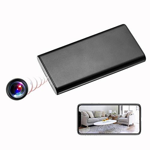 KAMRE 1080P 10000mAh Portable WiFi Power Bank Hidden Spy Camera Nanny Cam with Motion Detection, Night Vision and Smart LED Light Digital Display, Black