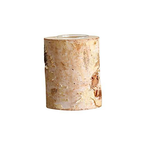 Naturholz Kerzenhalter, Birke Holz Teelichthalter Personalisierte Kofferraum Kerzenhalter, Vielseitiger Kerzenhalter Für Rustikale Hochzeitsfeier Geburtstag Feiertag Schreibtisch Dekoration