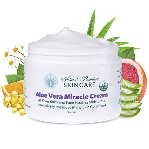 Organic Aloe Vera Cream - Face Moisturizer For Women - All Natural Face Cream For Women – Face Lotion For Women -Aloe Lotion For Dry Skin, Psoriasis, Eczema & More -Face Moisturizer Cream