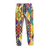 Inaayayi Colorido Triángulos Vibrante Moderno Joggers Impresión 3D Unisex Chándal Pantalones Novely...