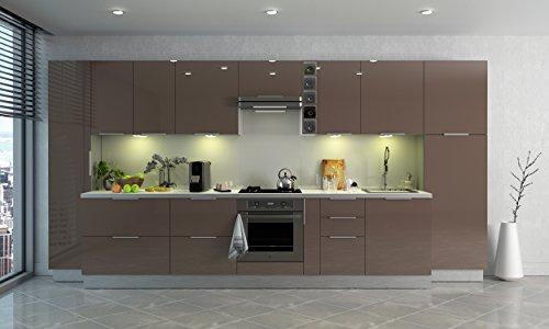 color blanco Berlenus CP8HB Armario de cocina 2 puertas, 81 x 42 x 13 cm