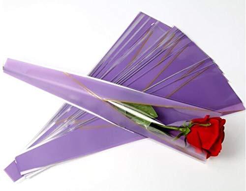 Miner 25st bloemen inpakpapier Valentijnsdag geschenkverpakking papieren bloem kegels houder boeket bruiloft bloemist benodigdheden, paars