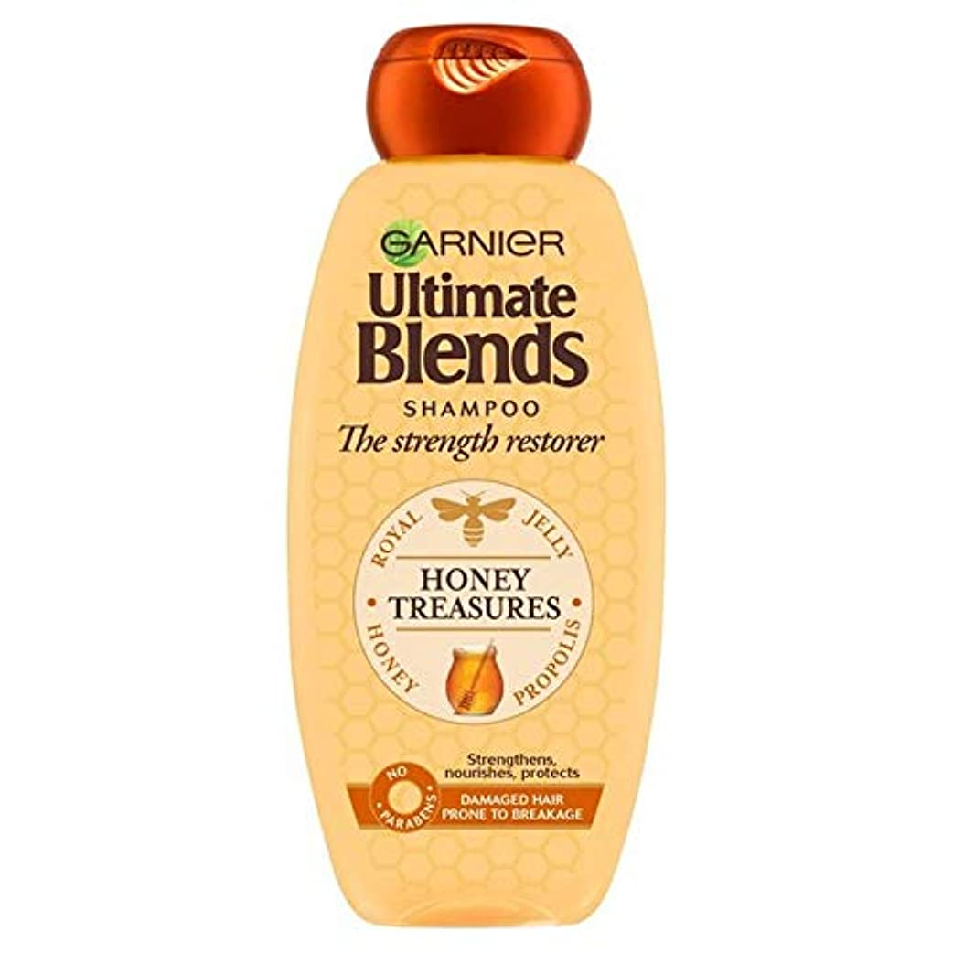 男性政治マンモス[Garnier ] ガルニエ究極の蜂蜜強化シャンプー360ミリリットルをブレンド - Garnier Ultimate Blends Honey Strengthening Shampoo 360ml [並行輸入品]
