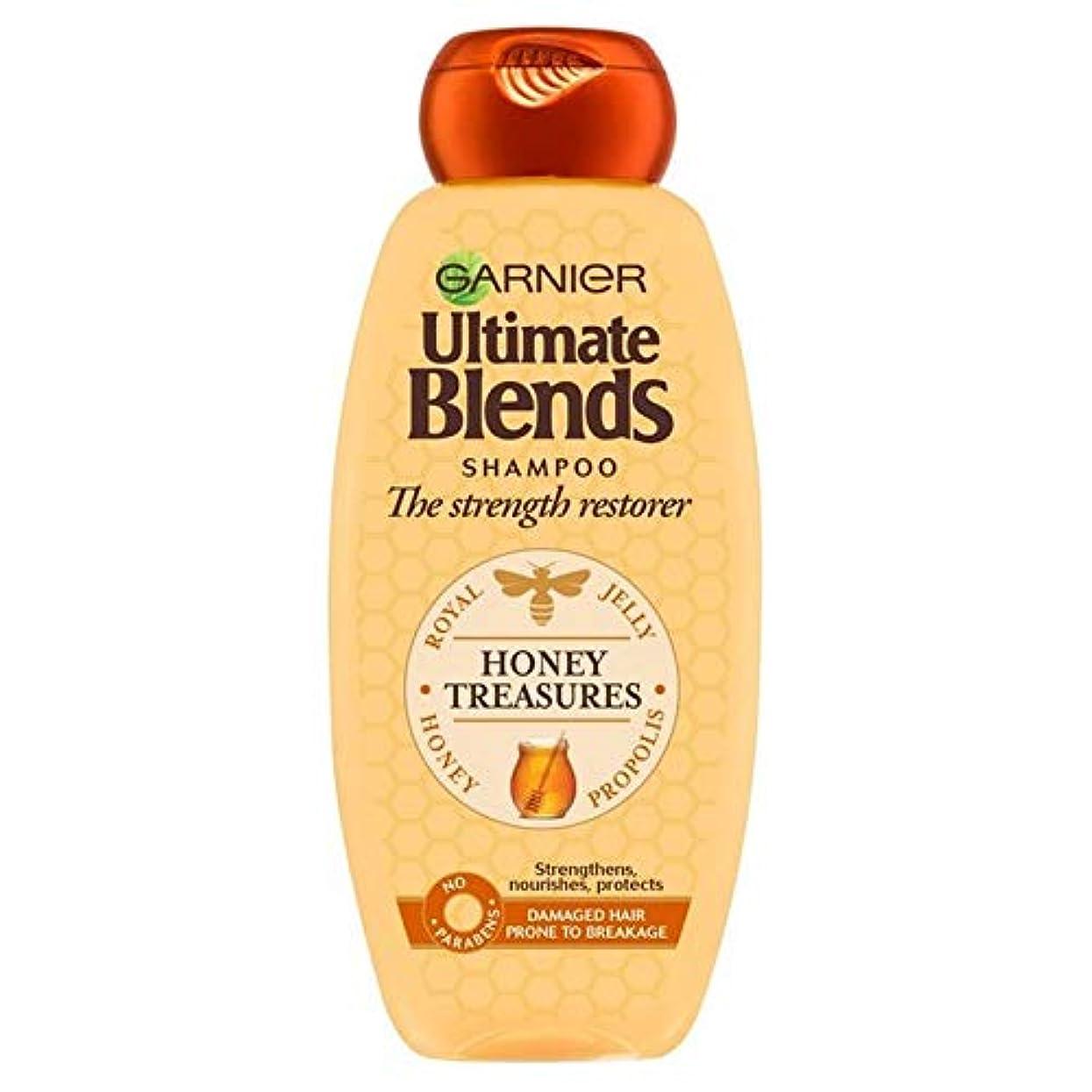 倉庫詳細なバックグラウンド[Garnier ] ガルニエ究極の蜂蜜強化シャンプー360ミリリットルをブレンド - Garnier Ultimate Blends Honey Strengthening Shampoo 360ml [並行輸入品]