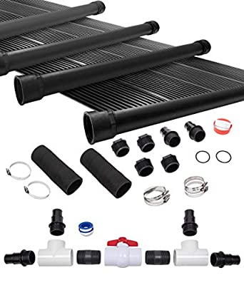 SunQuest 4-2'X12' Solar Swimming Pool Heater System with Diverter Kit