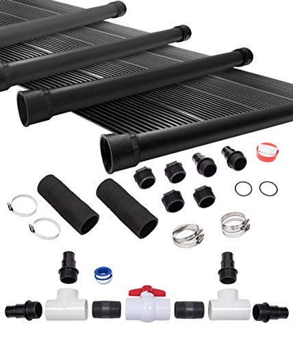 Great Price! SunQuest 4-2'X12' Solar Swimming Pool Heater System with Diverter Kit