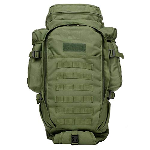 Tactical Backpack Military Grade Waterproof Tear Resistant Material Large Survival Rucksack Multifunction MOLLE Assault Bag for Various Outdoor Sports Adlereyire ( Color : Green , Size : 30*19*120cm )