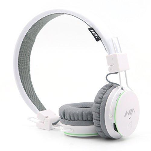 Kids Wireless Bluetooth 4.2 Headphones, GranVela X2 Lightweight Retro Foldable Multifunction Headphones with FM Radio, TF Card Mp3 Player and Microphone,3.5mm Jack (White)