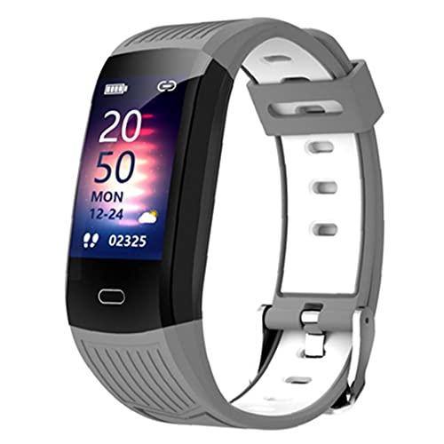 Smart Watch Activity Trackers Watch.Smart Watch Pulsera Impermeable Bluetooth Modo de deportes Modo deportivo con teléfono RECORDATORIO RECORDATORIO Presión arterial Gris blanco