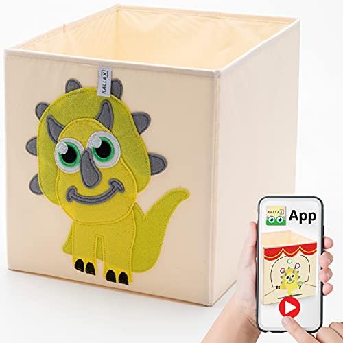 Kallax - Caja de almacenamiento plegable de tela lavable para juguetes y juguetes en forma de cubo para armarios, muebles, habitación de los niños, 33 x 33 x 38 cm