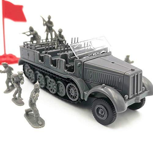 1yess 1:72 Escala Militar 7 Asamblea de plástico del vehículo semioruga Modelo...