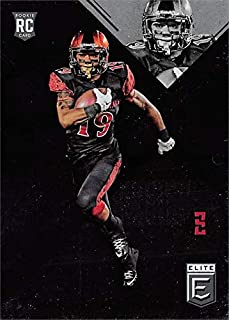 Donnel Pumphrey football card (San Diego State) 2017 Panini Elite Rookie #183