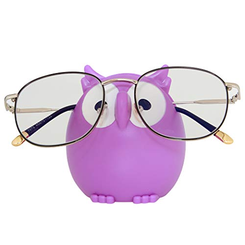Owl Sunglasses Eyeglasses Holder Stand Display Smartphone Holder 6 color choices, Purple, 3 x 2.5 x...