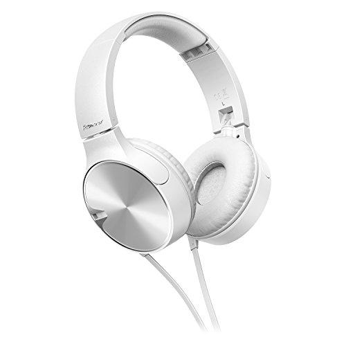 Pioneer SE-MJ722T-W bassstarker Stylischer on-Ear-Kopfhörer optimiert für Android/Apple Smartphone weiß