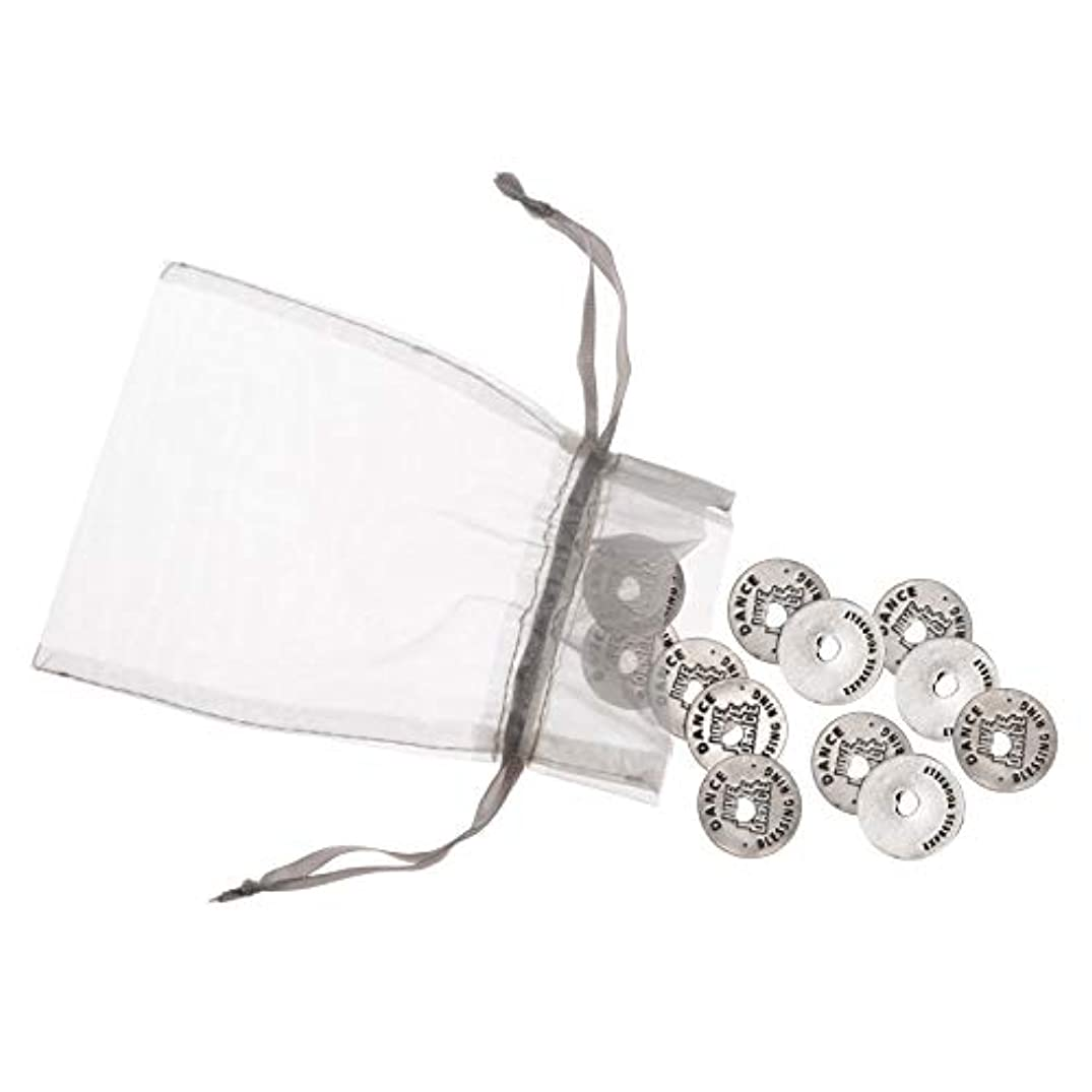 Blessing Ring Dance Charms - Set of 25 Pewter Rings That Can Be Used as Necklaces, Shoe Embellishments or Good Luck Tokens for Dance Team
