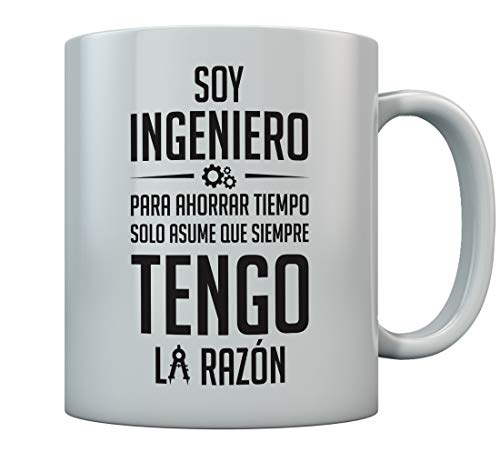 Taza Regalo para Ingeniero 350ml Blanco350ml Blanco