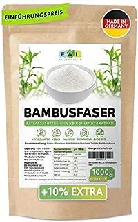 Bambusfasern 1000g  100g extra XXL Vorteilspack Herkunftsland u. hergestellt in DeutschlandKontrollierte Qualität Bambusfaser Mehl Fein und schonend Vermahlen 1,1kg