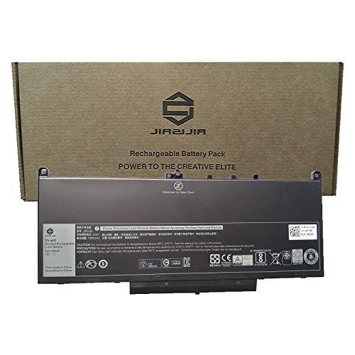 JIAZIJIA J60J5 Laptop Battery Compatible with Dell Latitude 7470 E7470 Latitude 7270 E7270 Series Notebook PDNM2 R1V85 451-BBSX 451-BBSY 451-BBSU MC34Y 242WD GG4FM Black 7.6V 55Wh 7080mAh