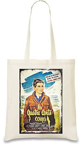 Das 400 Schlag-Plakat - The 400 Blows Poster Custom Printed Tote Bag| 100% Soft Cotton| Natural Color & Eco-Friendly| Unique, Re-Usable & Stylish Handbag For Every Day Use| Custom Shoulder Bags By