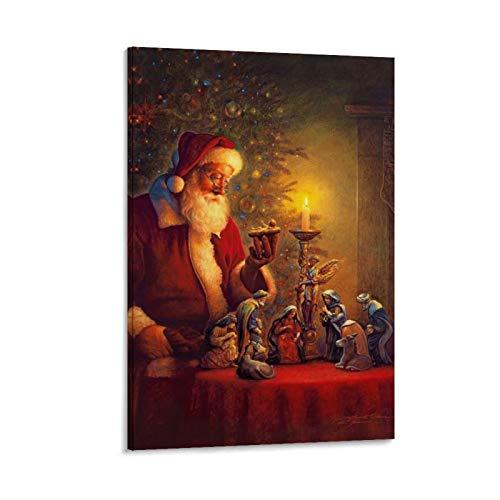 DRAGON VINES Spirito di Natale a lume di candela Santa Moderna Dipinti Moderni Decorazione da Parete Home30x45cm
