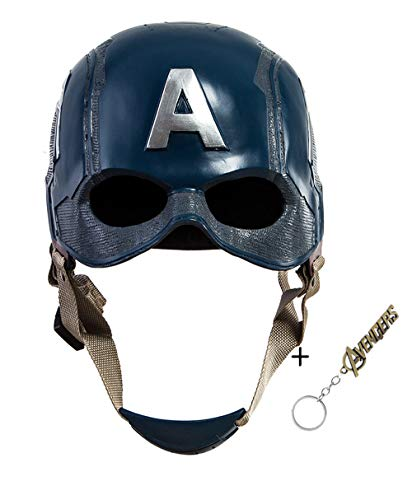 Traveller Captain America 3 Civil War Helmet Movie Cosplay Props for Adult, Navy Blue, one size