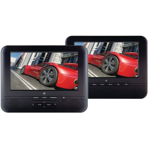 Find Discount GPX PD7711B Portable 7-Inch Twin Screen DVD Player