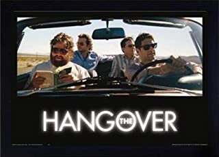 Global Prints Framed Hangover Poster Car 24x36 Movie Poster - 24 Hours in Vegas - Framed