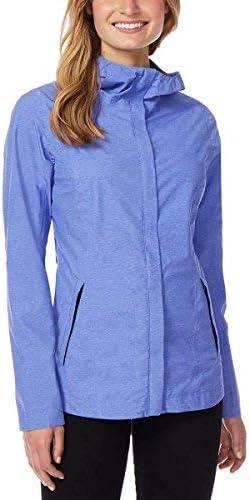 32 DEGREES Cool Womens Performance Rain Jacket Baja Blue Melange