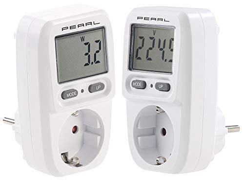 revolt Strommessgerät: 2er-Set digitale Energiekosten-Messer & Stromverbrauchs-Zähler (Stromverbrauchszähler Steckdose)