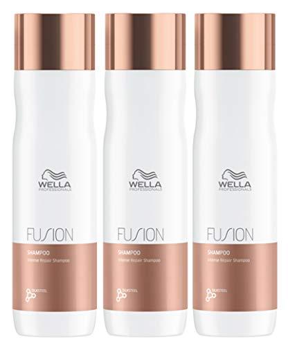 3er Wella Professional Fusion Intense Repair Shampoo 250 ml