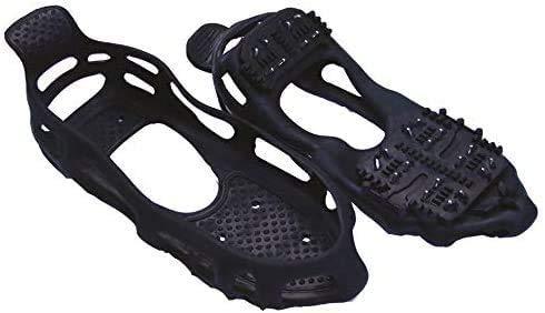 Invierno hombres mujeres adultos unisex tachonado nieve y hielo sobre zapatos con tacos antideslizantes – Juego de 2