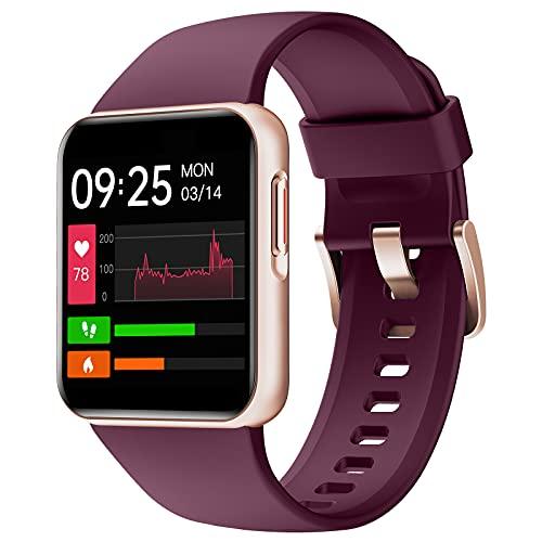 ZOSKVEE Reloj Inteligente, Smartwatch Hombre Mujer con Ritmo Cardíaco, Oxígeno Sanguíneo, Sueño, Calorías, 1,4'' Esfera Dinámica Reloj Deportivo, Pulsera Actividad Impermeable IP68 para iOS Android
