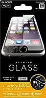 ELECOM iPhone 6s/6 液晶保護ガラスフィルム [3D touch 最高硬度9H 薄型0.33mm ラウンドエッジ加工 飛散防止設計] PM-A15FLGG03