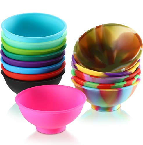 14 Pieces Mini Silicone Pinch Bowls, 1.75 Ounce Prep and Serve Bowls, Multicolor