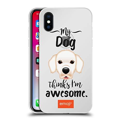 Officiële emoji® Labrador Honden Zilver Metallic Aluminium Bumper Compatibel voor Apple iPhone X/iPhone XS