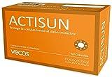 Actisun Vecos con betacaroteno para un bronceado natural y luminoso – Antioxidante con vitaminas C y E para la protección de la piel contra radiaciones ultra violetas y radicales libres – 60 cápsulas