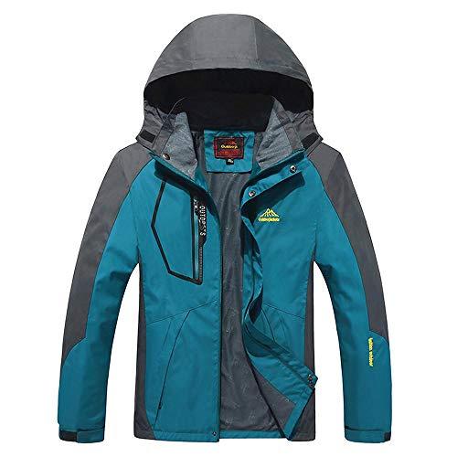 YEBIRAL Herren Softshell Jacke Outdoor Funktionsjacke Abnehmbare Kapuzen Klettern Freizeitjacke Sportjacke Arbeitsjacke
