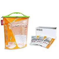 山本商事 HOTPLUS マルチウォームバッグ 特殊二層構造で食品の温め・湯沸かし(飲用可)・給水袋利用も可能 (セット(袋1+剤3))