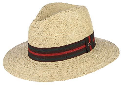 GEMVIE Sombrero de Paja Fedora para Hombre Gorro Vestir Caballero Fiesta con...