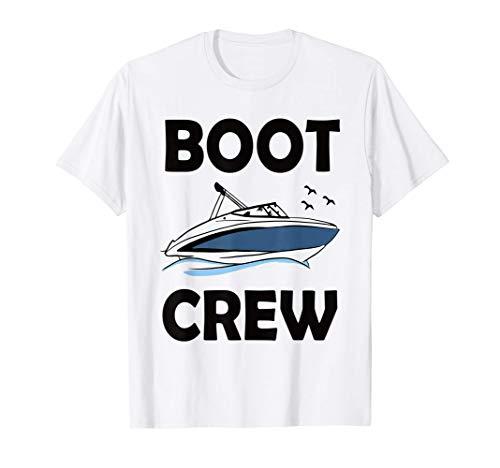 Boot Crew Mannschaft Boot fahren als Gruppe Motorboot T-Shirt