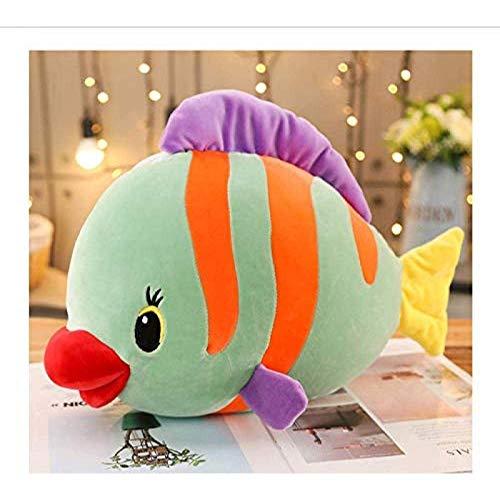 Rvicur WZYJ Almohada de Peluche Grande Suave pez Tropical Creativo sofá cojín Decorativo Regalo de cumpleaños para niños y niñas 40cm