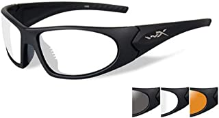 Wiley X Romer 3 Sunglasses, Rust & Smoke Grey Lenses, Wraparound Shape Offered in Matte Black Color from Eyeweb