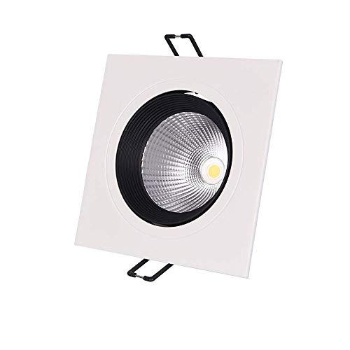 LED empotrado en el techo Downlight Spots Panel cuadrado de aluminio antideslumbrante Foco integrado integrado Super brillante 12W COB Rejilla Armario Lámpara para tienda Tienda Centro comercial Cor