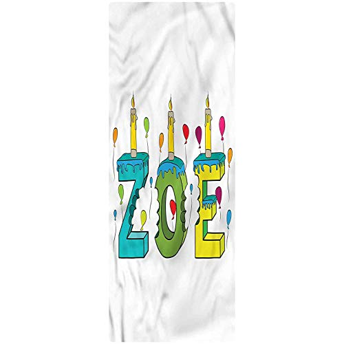 Zoe Indoor/Outdoor Runner Rug, 2'x3', Colorful Birthday Candles Decorative Runner Rug with Non Slip Backing for Hallway Entry Way Floor Carpet