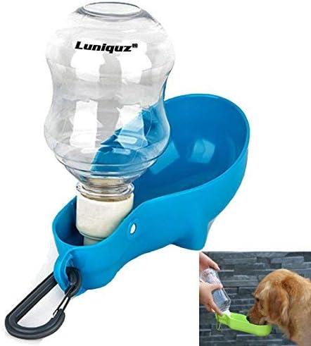 Luniquz Reise Wasserspender Für Hunde Mit Flasche Mit Karabiner Clip Für Verwendung Im Freien Beim Joggen Und Wandern Auf Reisen 250 Ml Haustier