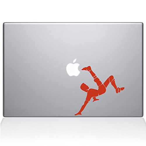 Die Aufkleber Guru Fußball Fahrrad Kick MacBook Aufkleber Vinyl Aufkleber–33cm MacBook Air–Orange (1178-mac-13a-p)