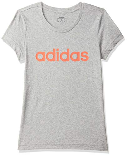 adidas Mädchen YG E LIN Tee T-Shirt, Brgrin/Corsen, 140 (9/10 años)
