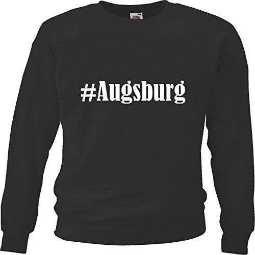 Reifen-Markt Sweatshirt Damen #Augsburg Größe L Farbe Schwarz Druck Weiss