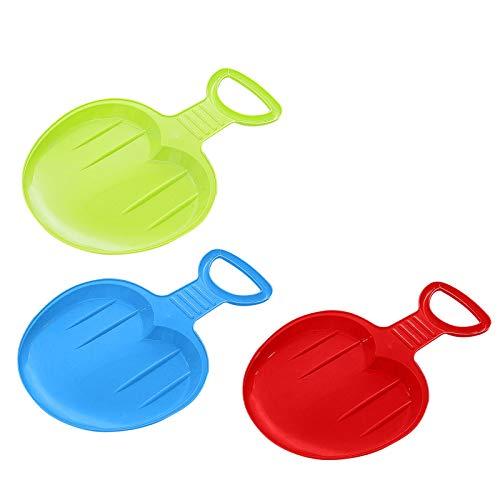 Writtian Schlitten Bob für Kinder zum Porutschen & Schlittenfahren Schneeflitzer zum Rodeln Schneerutscher für die ganze Familie - Schlitten Kunststoff Popo-Rutscher für Gras